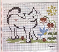 ROSANA ART AND TIPS: GRAPHIC POINT CROSS KITTENS