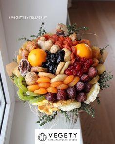 Букет из сухофруктов Food Bouquet, Candy Bouquet, Vegetable Bouquet, Edible Bouquets, Fruit Decorations, Chocolate Bouquet, Edible Arrangements, Edible Gifts, Food Platters