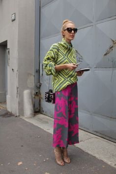 A stunning pair of Dries Van Noten trousers seen at #MFW