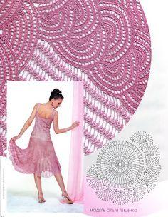 Patrones Crochet: Patron Crochet Falda Princesa