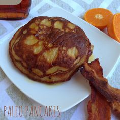 Finally, a paleo recipe for pancakes that's easy to make and actually tastes good. This is my own modified version of a version I found online. These are made in a blender...brilliant!