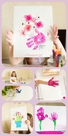 18 Sentimental Diy Mother S Day Gift Ideas That Will Make Mom Cry Handprint Art And Craft