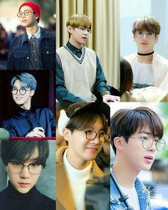 BTS in glasses