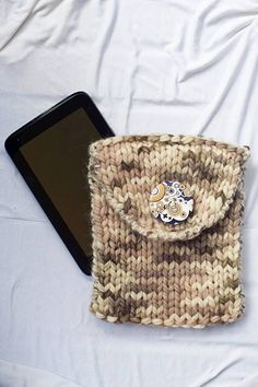 Unisex knitted case ipod Handmade tablet case by PlexisArt on Etsy