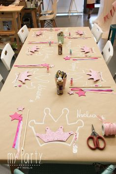 Cheap Party Decorations, Birthday Party Decorations Diy, Diy Party, Birthday Ideas, Princess Party Decorations, Free Birthday, Ideas Party, Party Crafts, Birthday Games