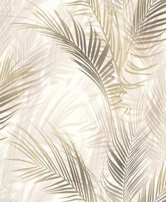 Bamboo Palm by Albany - Brown - Wallpaper : Wallpaper Direct Golden Wallpaper, Palm Leaf Wallpaper, Wallpaper Direct, Wallpaper Dorado, Glass Design, Wall Design, Cute Wallpapers, Wallpaper Backgrounds, Bamboo Background