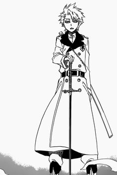 Do me a favor and stay frozen there for all eternity. Bleach Ichigo And Rukia, Bleach Manga, Anime Boy With Headphones, Manga Art, Manga Anime, Bleach Captains, Bleach Drawing, Poses, Black And White Graffiti