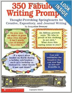 "Creative, engaging, thought-provoking prompts for every day of the school year! More than 300 ways to motivate even your most reluctant writers. Topics include feelings, ethics, ""imagineering,"" quotations, humor, problem-solving, school situations, and so much more. For use with Grades 4-8."