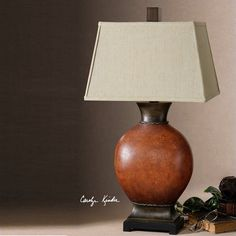 Suri Crackled Ceramic Table Lamp in Burnished Dark Red