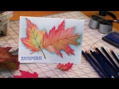 Watercolor Leaves uses Inktense pencils