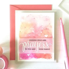 Created by Kelly Rasmussen. Exclusive Hero Arts stamp and die set for Simon Says Stamp STAMPtember 2015 Card Making Inspiration, Making Ideas, Hero Arts Cards, Christian Cards, Beautiful Handmade Cards, Sympathy Cards, Sympathy Greetings, Prayer Cards, Watercolor Cards