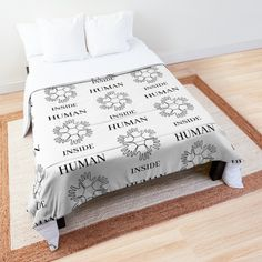 'Human Inside' Comforter by RIVEofficial Table Accessories, Coque Iphone, Decorating Your Home, Equality, Evolution, Duvet, Comforters, Identity, Custom Design