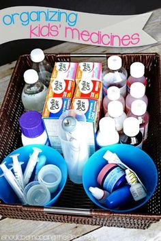 Organizing Kids Medicines by I Should be Mopping the Floor