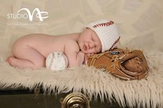 Photo Prop Newborn Boy Hand Knit Baseball by smittenwithknitn, $21.00