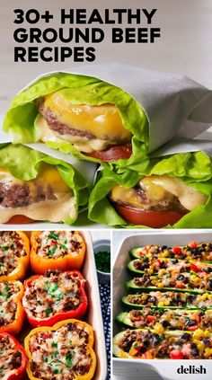 Healthy Ground Beef Recipes Ground beef is great, but these healthy recipes make it even better. Get the recipes at .Ground beef is great, but these healthy recipes make it even better. Get the recipes at . Healthy Beef Recipes, Healthy Meal Prep, Healthy Breakfast Recipes, Dinner Healthy, Easy Recipes, Chicken Recipes, Healthy Dishes, Crockpot Recipes, Wrap Recipes