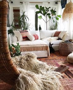 Summer style!! Basket Light! Summer Bohemian Chic! Lots of texture too! LOVE the dog!