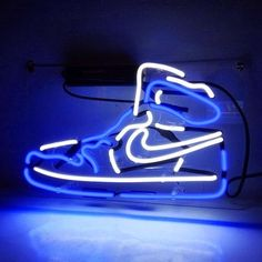 Nike Blue Sneakers Neon Sign