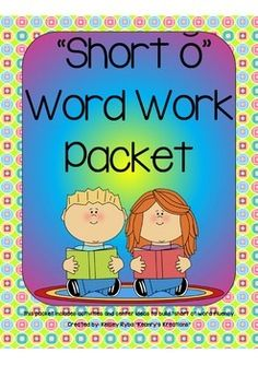 """Short Vowel o"" Word Work Packet for easy to set up centers for primary grades!"