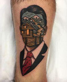 by Aaron Ashworth (at WA Ink Tattoo) Pop Art Tattoos, Cool Tattoos, Small Traditional Tattoo, Gentleman Tattoo, Tattoo Gallery, Totem Tattoo, Tattoo Apprenticeship, Classy Tattoos, Black White Tattoos