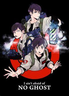 Ghost Busters are crossover with Osomatsu-san Anime Crossover, Gost Busters, Dark Anime Guys, All Anime, Osomatsu San Doujinshi, Animes To Watch, Handsome Anime Guys, Ichimatsu, Fan Art