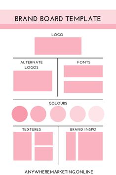 As a designer or marketing assistant, building a brand board can be key to creating brand consistency and maintaining a visual tone across platforms. You can easily create a brand board in Canva or any other visual building tool.