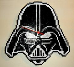Darth Vader clock - Star Wars hama beads by Werner Herbener