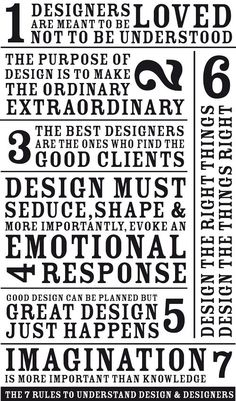 7 rules for designing (from Fabien Barral) #graphic #design