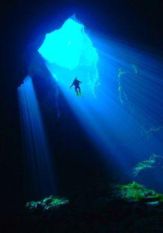 Underwater cave, Mexico
