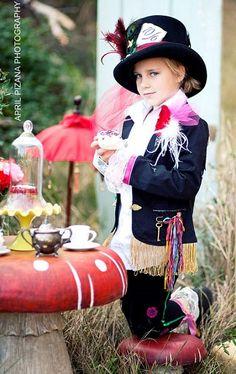 Disfraz Alicia en el país de las maravillas, sombrerero niña