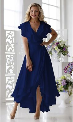 Women's Cocktail Party Sexy A Line Dress - Solid Colored V Neck Blushing Pink Da. Women's Cocktail Party Sexy A Line Dress – Solid Colored V Neck Blushing Pink Dark Blue Blue XX Elegant Dresses For Women, Simple Dresses, Pretty Dresses, Beautiful Dresses, Casual Dresses, Fashion Dresses, Blue Dresses For Women, Elegant Summer Dresses, Bride Dresses