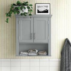 "Bellaterra Home 30"" Single Bathroom Vanity Base Only | Wayfair Wall Mounted Bathroom Cabinets, Bathroom Vanity Base, Vanity Set, Bathroom Cabinets Over Toilet, Bath Cabinets, Toilet Storage, Bathroom Storage, Bathroom Ideas, Bathroom Shelves"