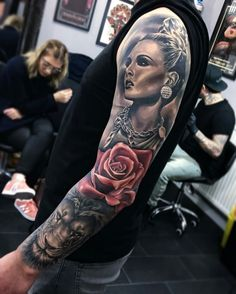 Tattoo done by: Joe Carpenter #rose #rosetattoo