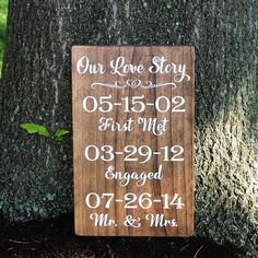 Our Love Story Wedding Date Sign / Painted Wood by TheSignPatch, $55.00