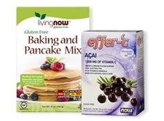 Mom Ambassadors are sampling Living Now Baking and Pancake Mix & NOW Effer-C Effervescent Drink Mix | Moms Meet