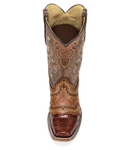 Corral Women's Niloticus Square Toe Boot - Golden Cognac
