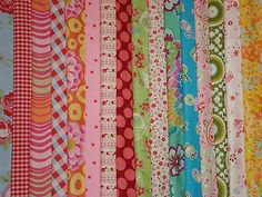 Bundle patchwork fabric material remnants Cath Kidston Kaffe Fassett Amy Butler