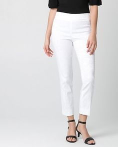 Jacquard Slim Leg Pant - Wear a perfectly tailored jacquard pant to almost every occasion.