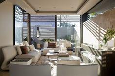 Wohnzimmer Einrichtungsideen-Natursteinwand weiße Farbe