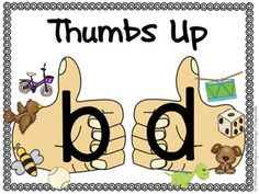 """This FREE poster is a great resource for your students to glance at when they confuse b and d. Laminate and display on your wall. Check out my Phonemic Anchor Charts>Please leave feedback if downloaded.Thanks, Kendra Thompson""""Teaching in Thompsonville"""""""