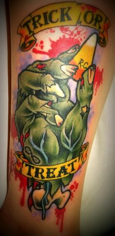1000 images about halloween tattoos on pinterest for Candy corn tattoo
