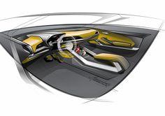 Audi Crosslane Coupe Concept - Interior Design Sketch