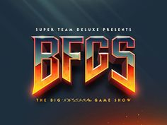 STD: BFGS designed by Justin Mezzell for Super Team Deluxe. Connect with them on Dribbble; Game Logo Design, Typo Design, Lettering Design, Branding Design, Logo Branding, Design Art, Game Font, Photoshop Text Effects, Logos