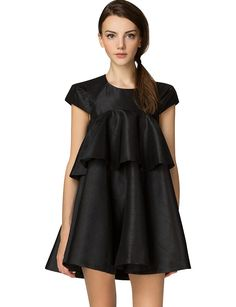 Cameo Little Black Dress - Cute Ruffle baby doll Cocktail Dresses #pixiemarket
