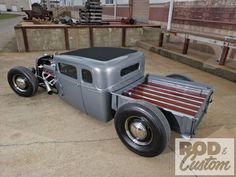 Rod and Custom cover truck. Bobber truck