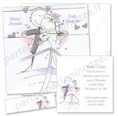Art. 95554 - Cartoncino perlato inserito in bustina fustellata con stampa spiritosa
