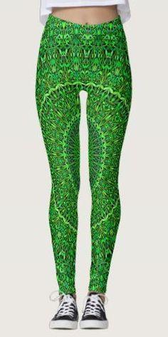 Discover Green leggings at Zazzle! Bohemian Design, Bohemian Style, Green Leggings, Yoga Leggings, Geometry Pattern, Forest Garden, Yoga Fashion, Mandala Design, Printed Leggings