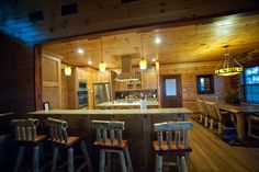 Kitchen and dining room of the Lake House Cabin at Broken Bow Lake