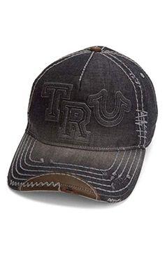 4aa7d028166 True Religion Men s Denim Raised Logo Ball Cap Review