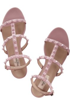 Valentino|Studded leather sandals|NET-A-PORTER.COM