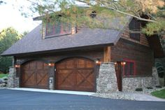 Carriage House - Lower Whitefish Lake - Summer - traditional - garage and shed - minneapolis - Lands End Development - Designers & Builders Garage House, Carriage House Garage, Dream Garage, Carriage Doors, Garage Shop, Style At Home, Shed Design, House Design, Attic Design